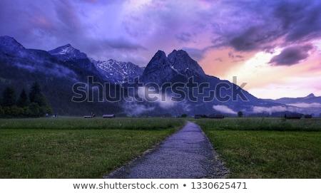 Bavarian Alps. View from Zugspitze Stock photo © natika