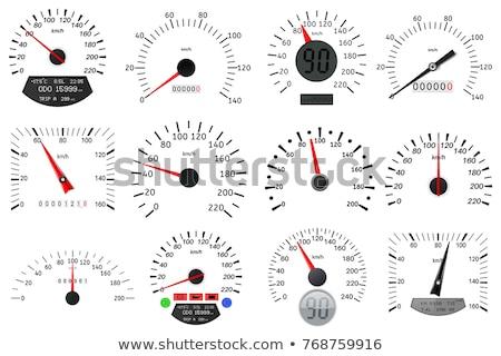 Hızölçer ayarlamak renkli örnek vektör Stok fotoğraf © derocz
