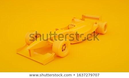 Amarelo fórmula um carro de corrida acelerar seguir Foto stock © ssuaphoto