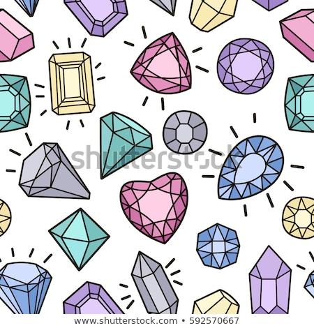 Vector shiny diamond seamless pattern Stock photo © kali