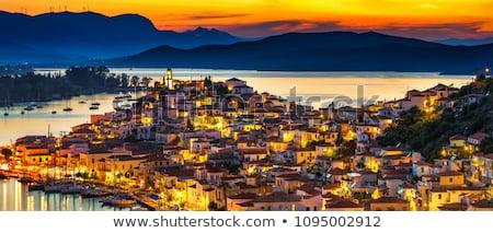 Eiland panorama Griekenland panoramisch foto haven Stockfoto © ankarb