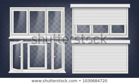 ウィンドウ · 閉店 · 木製 · 建物 - ストックフォト © rhamm
