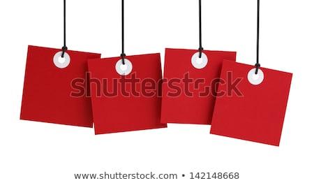 Witte lijst Rood communie beschrijving Stockfoto © liliwhite
