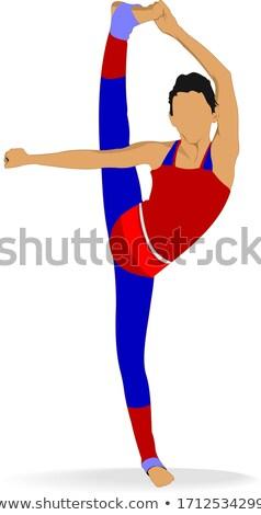 Nő gyakorol jóga lány táncosok póz Stock fotó © leonido