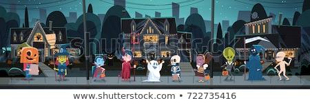 страхом · ужас · ад · Cartoon · иллюстрация · монстр - Сток-фото © vectomart