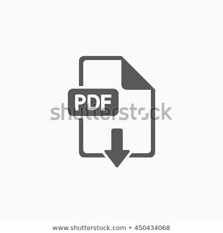 Vecteur pdf icône de téléchargement orange noir icône Photo stock © nickylarson974