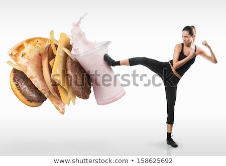 hús · hamburgerek · disznóhús · marhahús · főtt · tűz - stock fotó © lightsource
