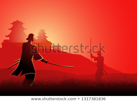 Samurai silhouette  Stock photo © adrenalina