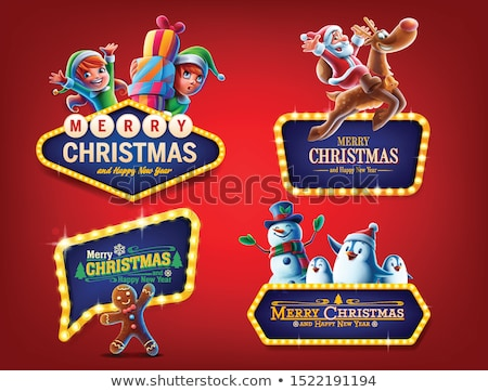 penguin with Christmas sign Stock photo © adrenalina