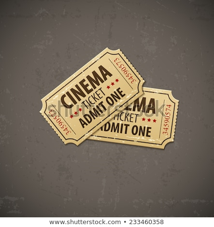Two old cinema tickets for cinema over grunge background Stock photo © LoopAll
