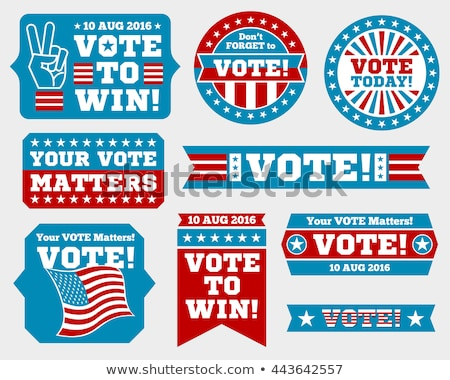 Election Sticker for 2016 Stock photo © rcarner