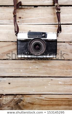 ヴィンテージ · 写真 · 古い · スキーヤー · 伝統的な · 木製 - ストックフォト © ankarb