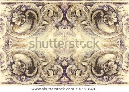 Grunge retro-stijl frame projecten antieke Stockfoto © Lizard