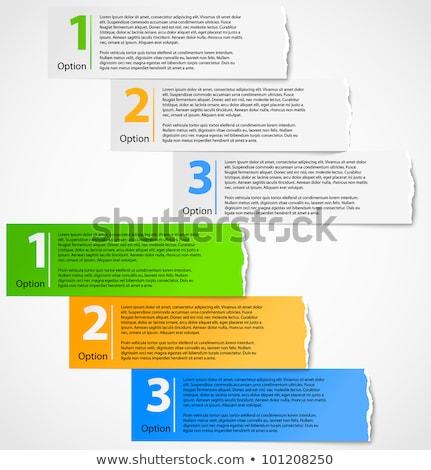 специальное предложение рваной бумаги за Torn грубая оберточная бумага торговых Сток-фото © ivelin
