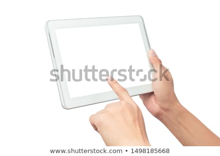 touchpad · vinger · business · laptop · sleutel - stockfoto © deandrobot