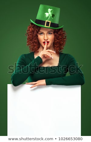 Waitress on the Patricks Day Party Stock photo © Voysla