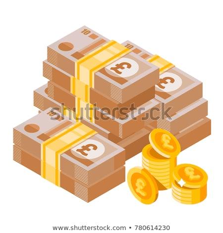 знак фунт валюта Англии бизнеса деньги Сток-фото © Ustofre9