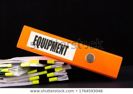 équipement mot dossier texte carte mise au point sélective Photo stock © tashatuvango