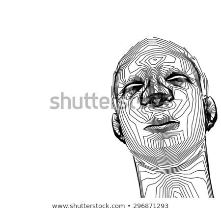Cultura giovanile lineare ragazzo testa bianco faccia Foto d'archivio © Melvin07