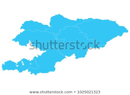 high detailed vector map of kyrgyzstan with navigation pins stock photo © tkacchuk