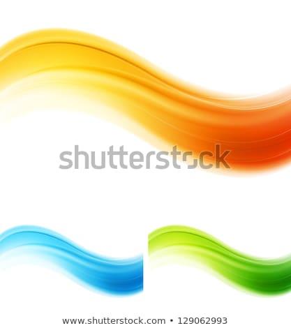 Absztrakt elegáns ciánkék kék vektor hullámok Stock fotó © saicle