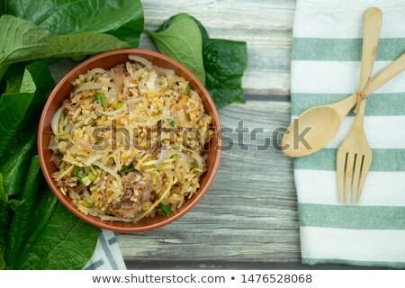 picante · salada · arroz · comida · tailandesa · comida · legumes - foto stock © eddows_arunothai