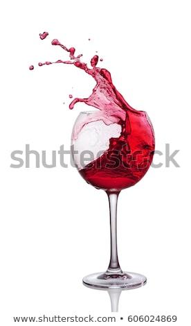 glass of spilled wine  Stock photo © OleksandrO