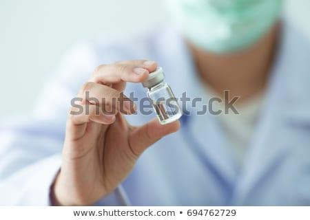 醫藥 注射器 準備 疫苗 注射 癌症 商業照片 © Klinker