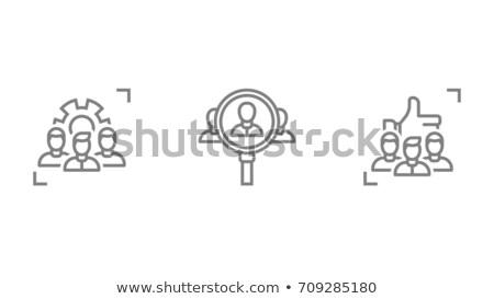вербовка · икона · дизайна · работу · человека · ресурсы - Сток-фото © wad