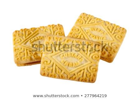 vla · room · biscuits · thee · witte · zoete - stockfoto © chrisdorney