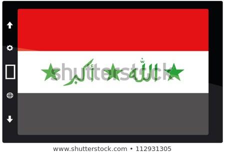 Tablet Irak bayrak görüntü render Stok fotoğraf © tang90246