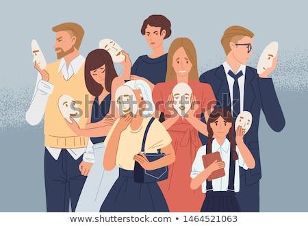 Społecznej psychologia grupy sieci ludzi ikona Zdjęcia stock © Lightsource