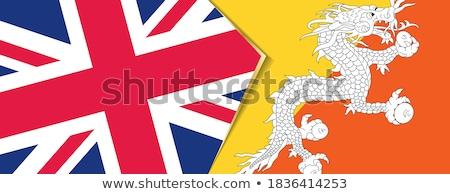 Великобритания Бутан флагами головоломки изолированный белый Сток-фото © Istanbul2009