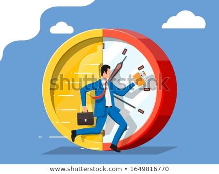 éves jövedelem üzletember mutat üzlet férfi Stock fotó © fuzzbones0