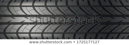 textured tire tread stock photo © bezikus