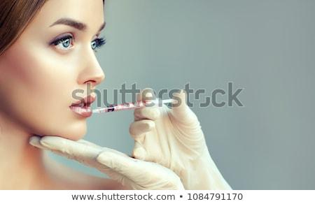 kadın · botox · çok · gözler · tıbbi · tıp - stok fotoğraf © flareimage