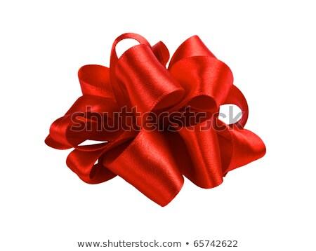 dourado · papel · de · embrulho · arco · apresentar · decoração · natal - foto stock © nelosa