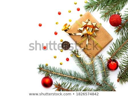 Natale abete rosso rami pino fiocchi di neve Foto d'archivio © Valeriy