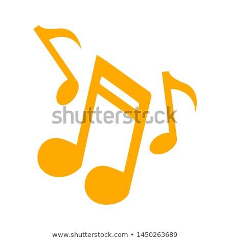 Croma musicale non bianco silhouette disegno Foto d'archivio © Bigalbaloo