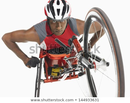 Wheelchair Racer Racing Isolated Stock photo © patrimonio