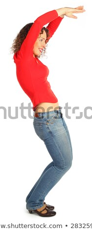 young woman represents  letter s Stock photo © Paha_L