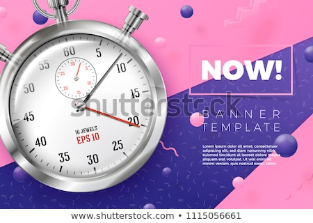 Stop Watch Violet Vector Icon Design Stock photo © rizwanali3d