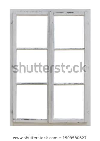 Boarded window of old house Stock photo © BSANI