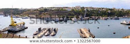 Панорама русский морем пушки лодка судно Сток-фото © vapi