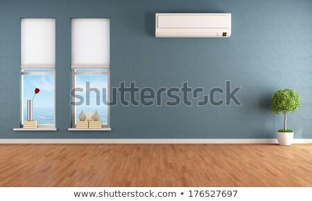 ar · condicionado · parede · velho · tecnologia · verão - foto stock © taigi
