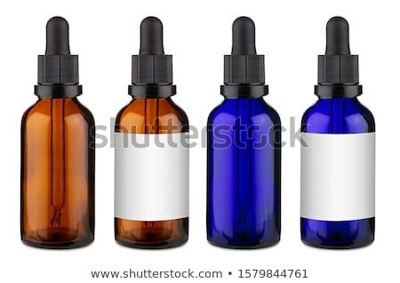 Kék cseppentő folyadék izolált fehér üveg Stock fotó © Alsos