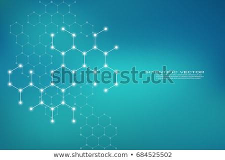 atomair · structuur · 3d · render · abstract · onderwijs · witte - stockfoto © idesign