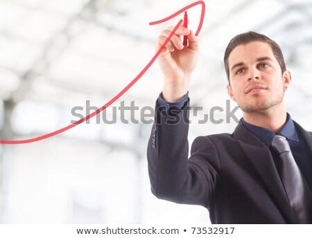 Geschäftsmann · Tabelle · Wachstum · Stadt · Business - stock foto © scornejor