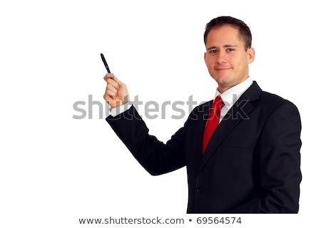 деловой человек совета костюм человека бизнеса Сток-фото © MaxPainter