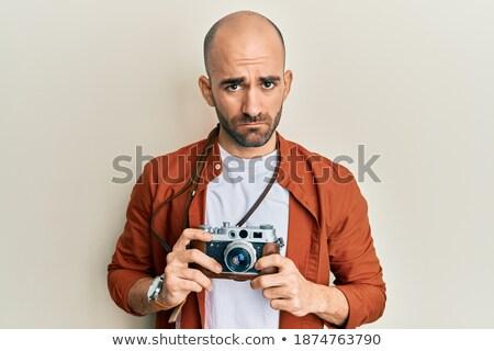 zdenerwowany · mężczyzna · fotograf · Fotografia · kamery - zdjęcia stock © deandrobot